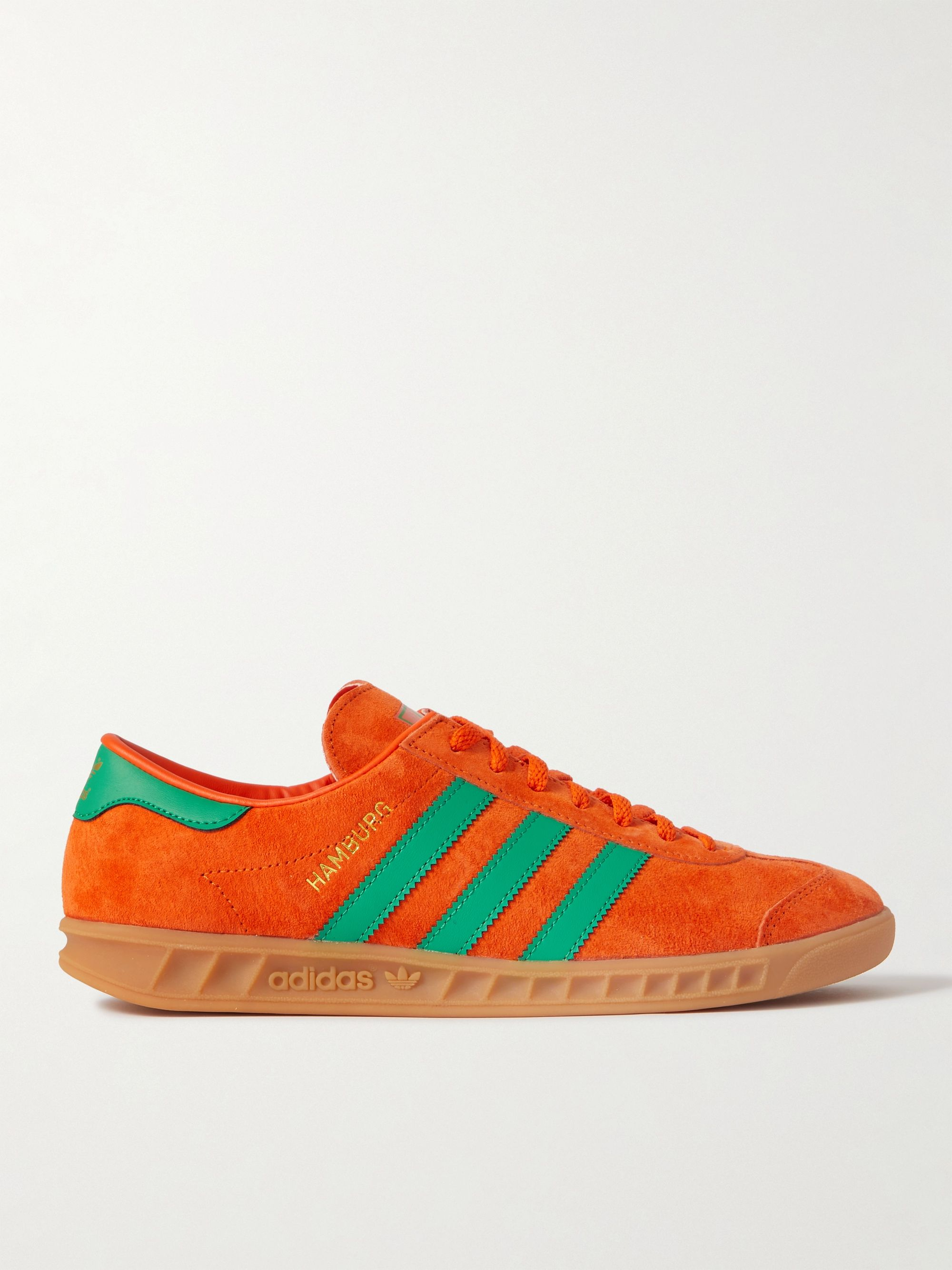 Hamburg Leather-Trimmed Suede Sneakers