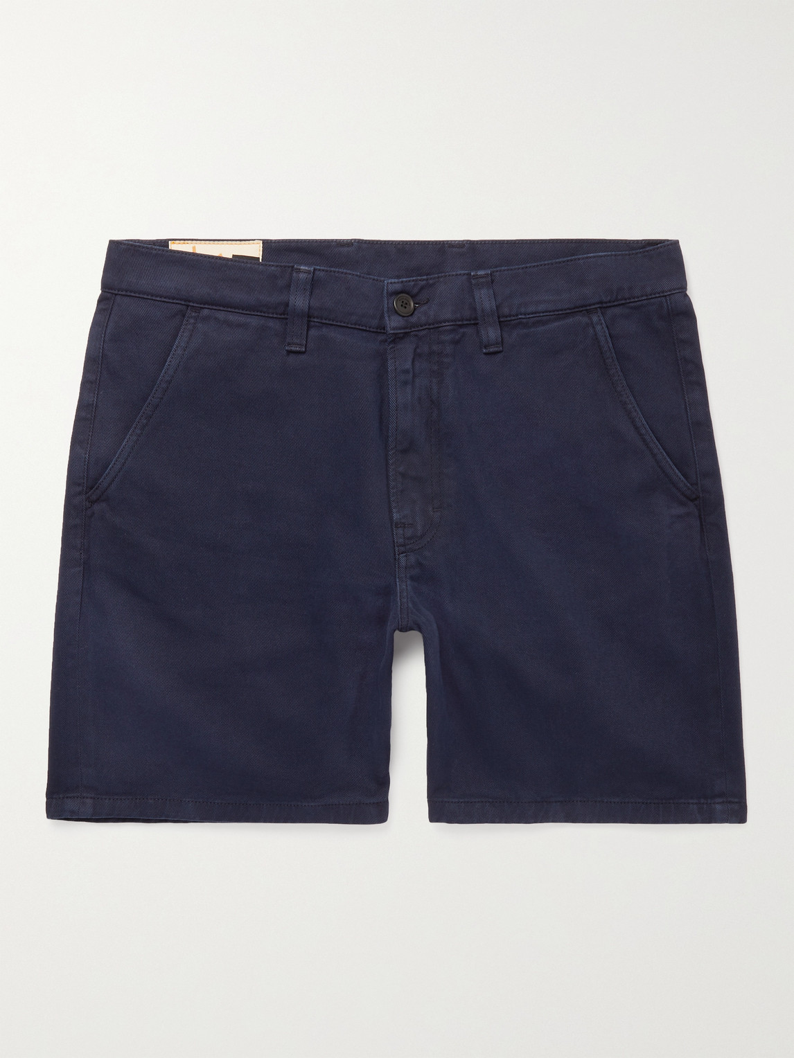Nudie Jeans Luke Organic Cotton-twill Shorts In Blue