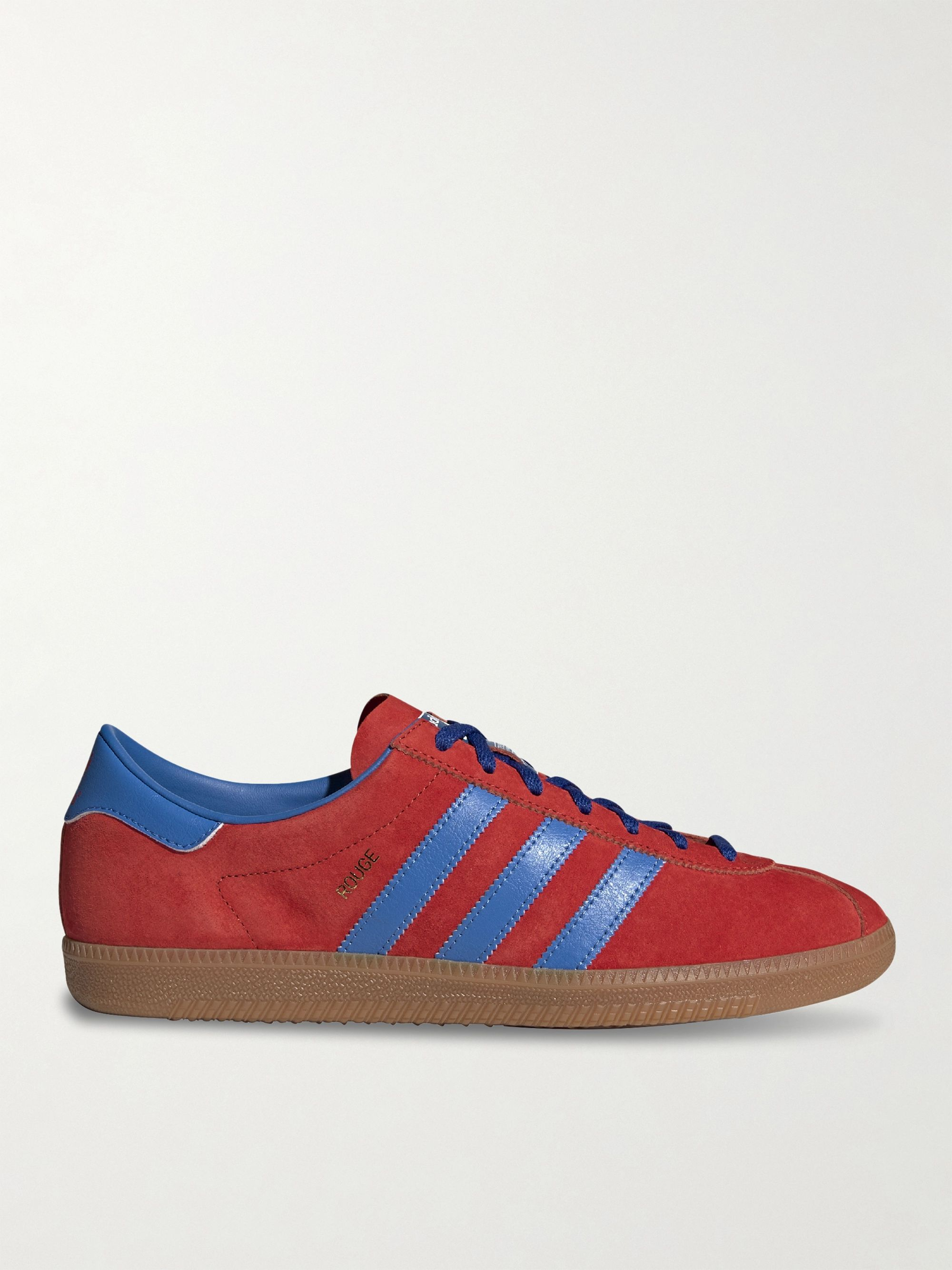 Rouge Nubuck and Leather Sneakers