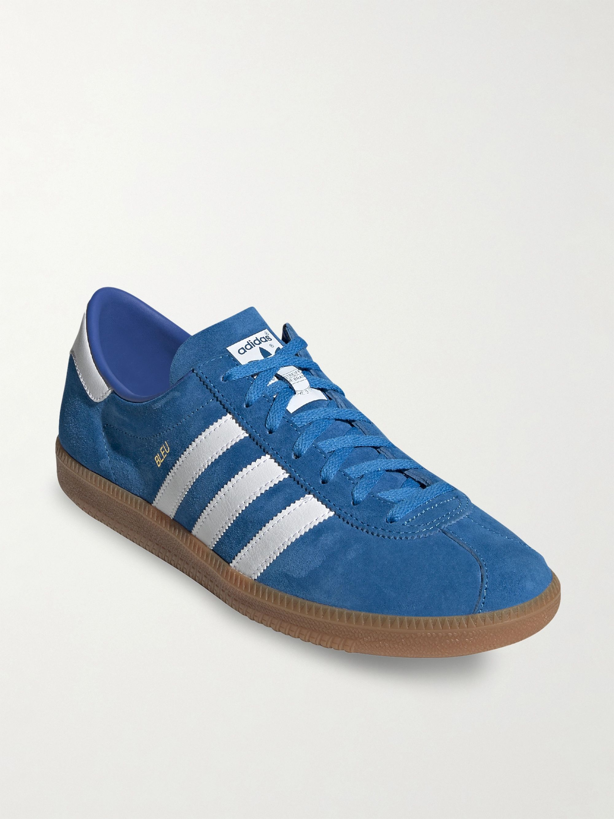 Bleu Nubuck and Leather Sneakers