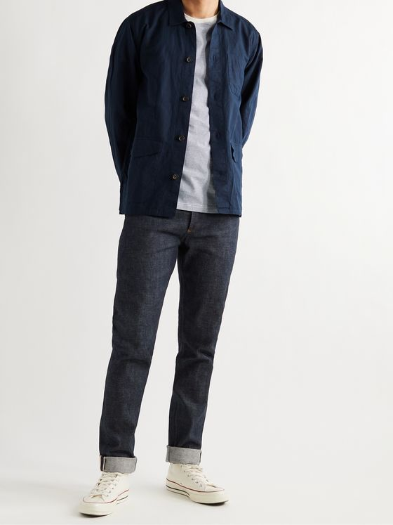 OLIVER SPENCER Hockney Linen and Cotton-Blend Shirt Jacket