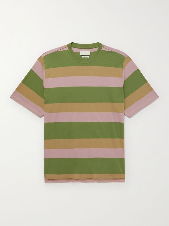 OLIVER SPENCER Box Striped Cotton T-Shirt