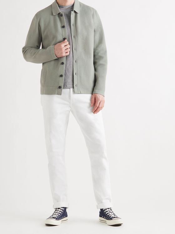 CLUB MONACO Milano Slim-Fit Cotton-Blend Cardigan