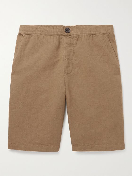 OLIVER SPENCER Cotton-Seersucker Drawstring Shorts