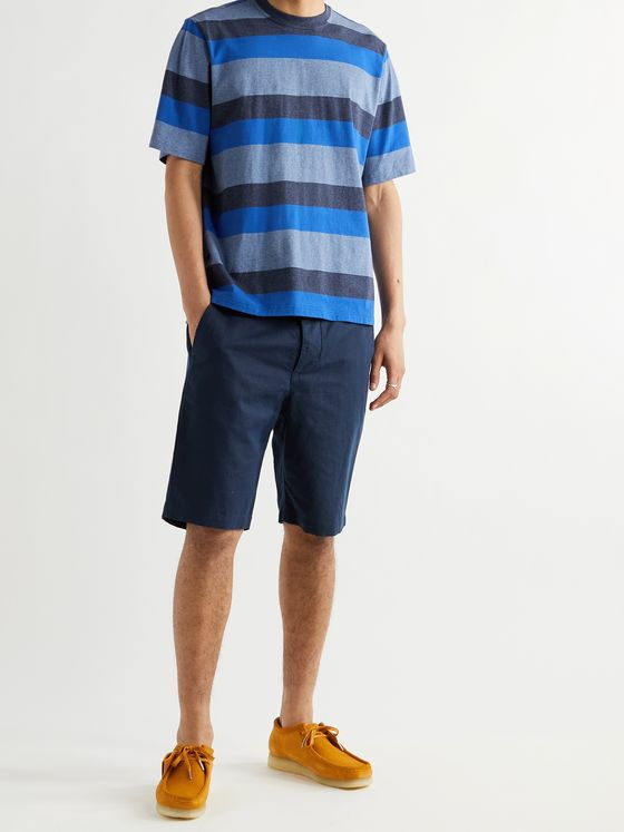 OLIVER SPENCER Box Striped Organic Cotton T-Shirt