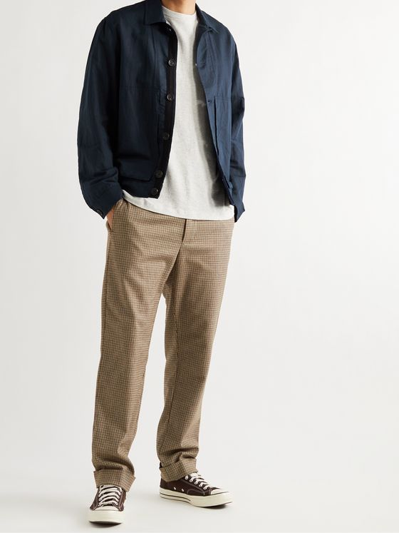 OLIVER SPENCER Stanford Linen and Cotton-Blend Blouson Jacket