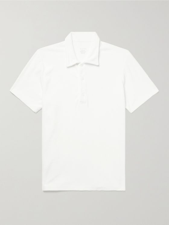 SAVE KHAKI UNITED Beach Organic Cotton-Terry Polo Shirt