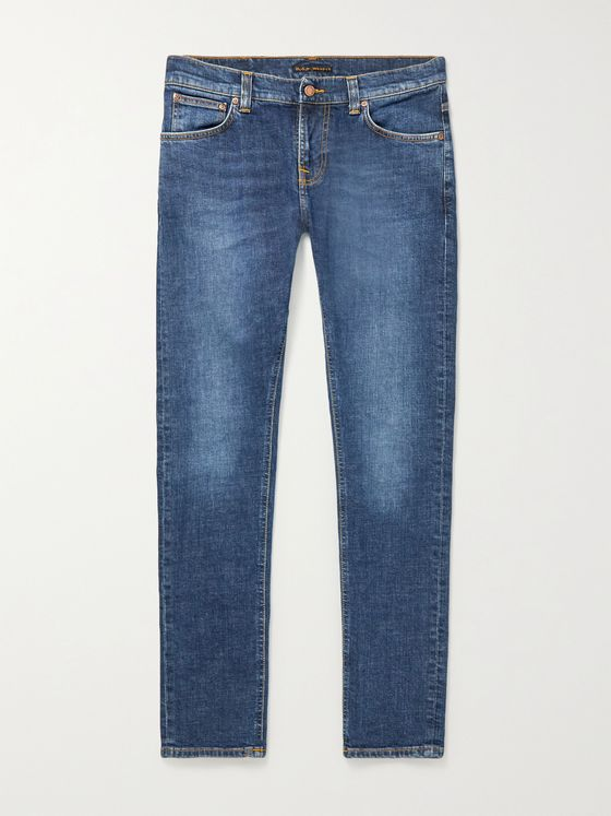 NUDIE JEANS Tight Terry Skinny-Fit Organic Stretch-Denim Jeans