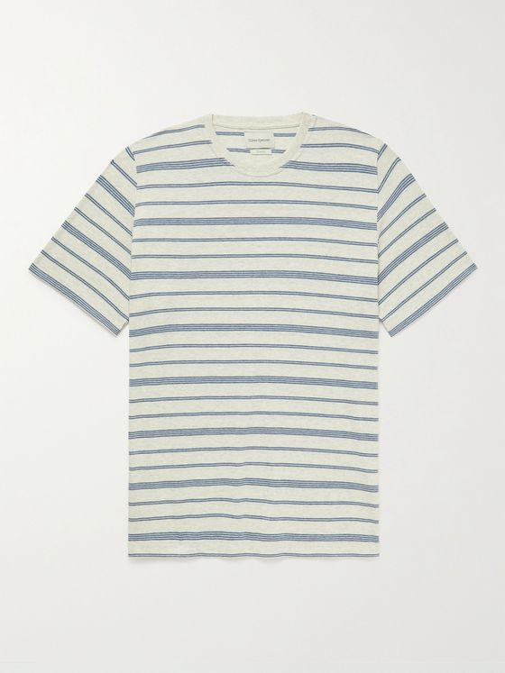 OLIVER SPENCER Conduit Striped Organic Cotton-Jersey T-Shirt