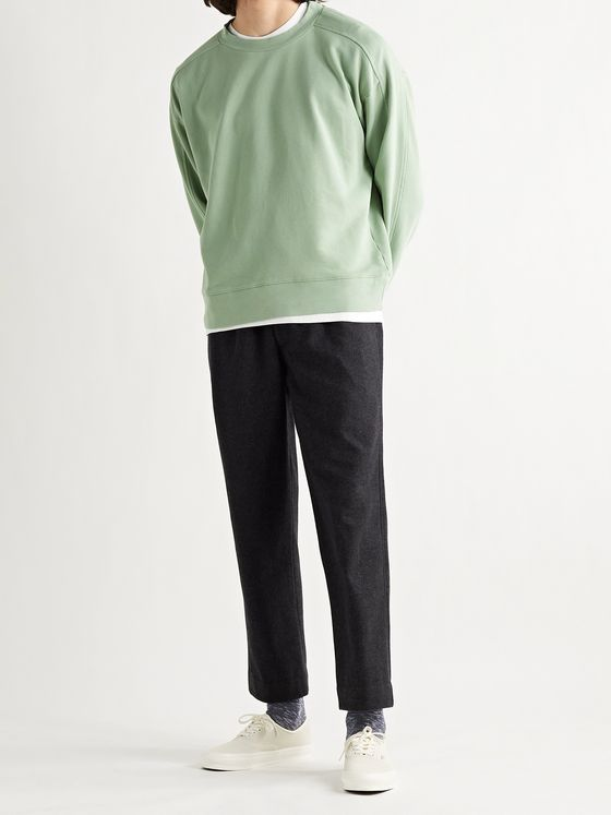 CLUB MONACO Loopback Cotton-Jersey Sweatshirt