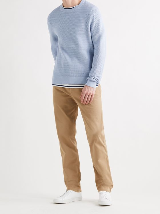CLUB MONACO Open-Knit Cotton Sweater