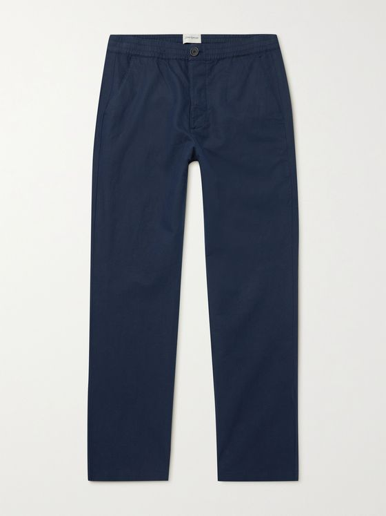 OLIVER SPENCER Linen and Cotton-Blend Trousers
