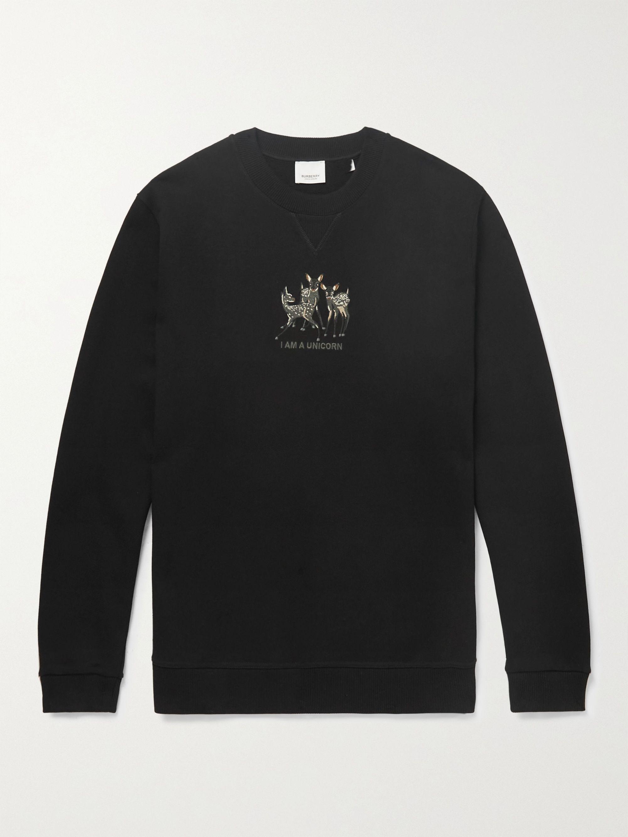BURBERRY Berkley Embroidered Cotton-Jersey Sweatshirt