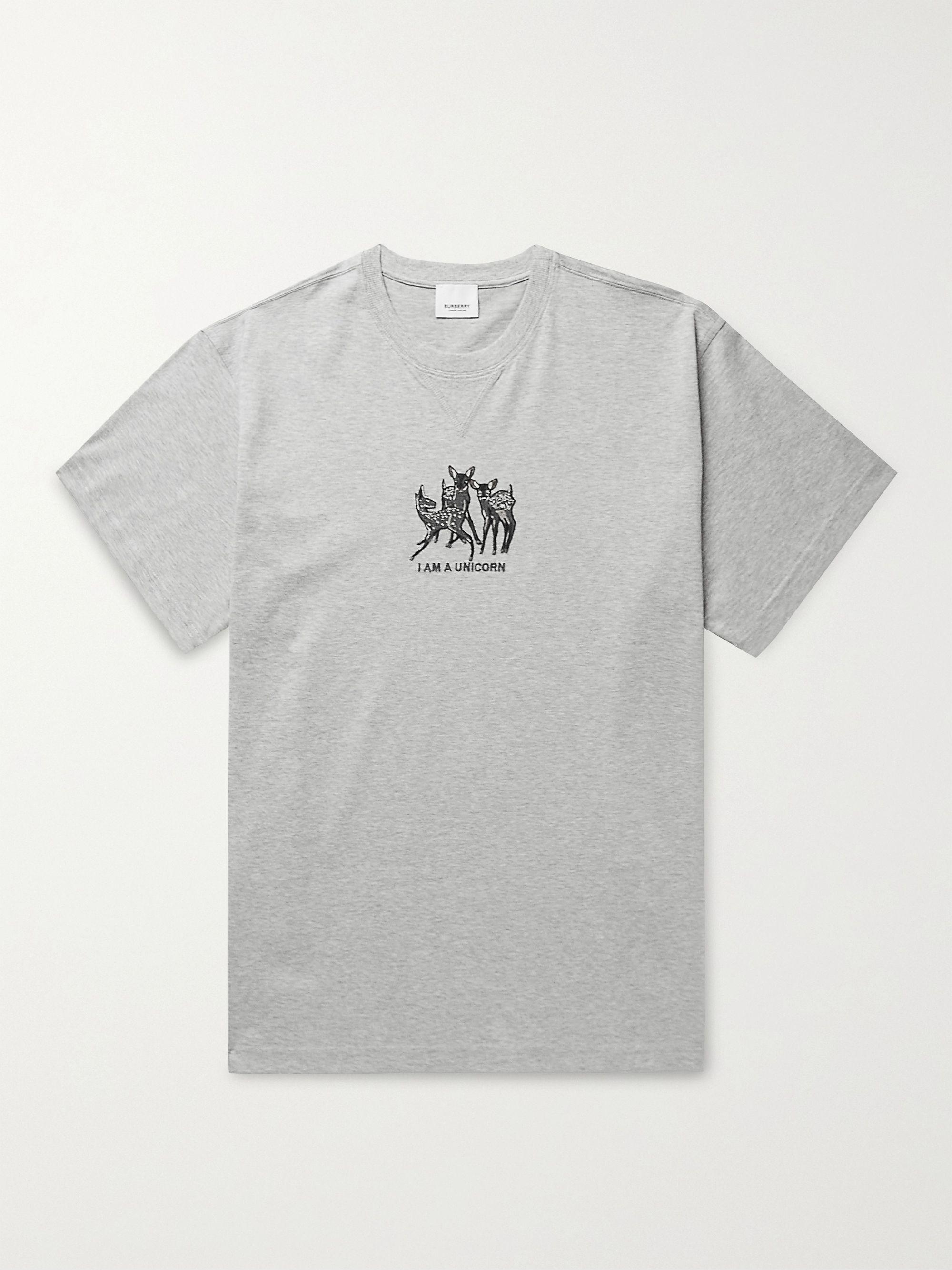 BURBERRY Appliqued Cotton-Jersey T-Shirt