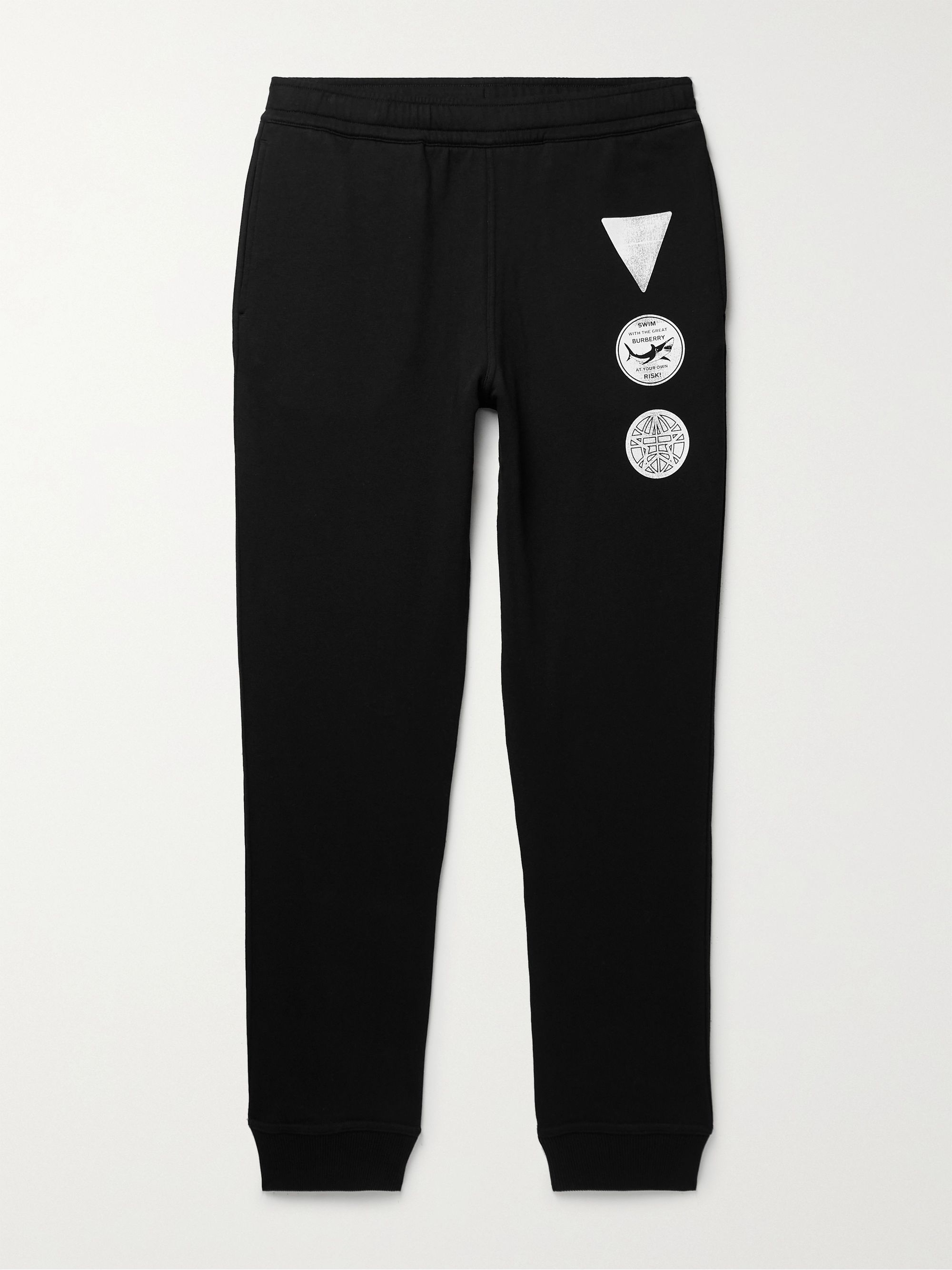 BURBERRY Printed Cotton-Jersey Sweatpants