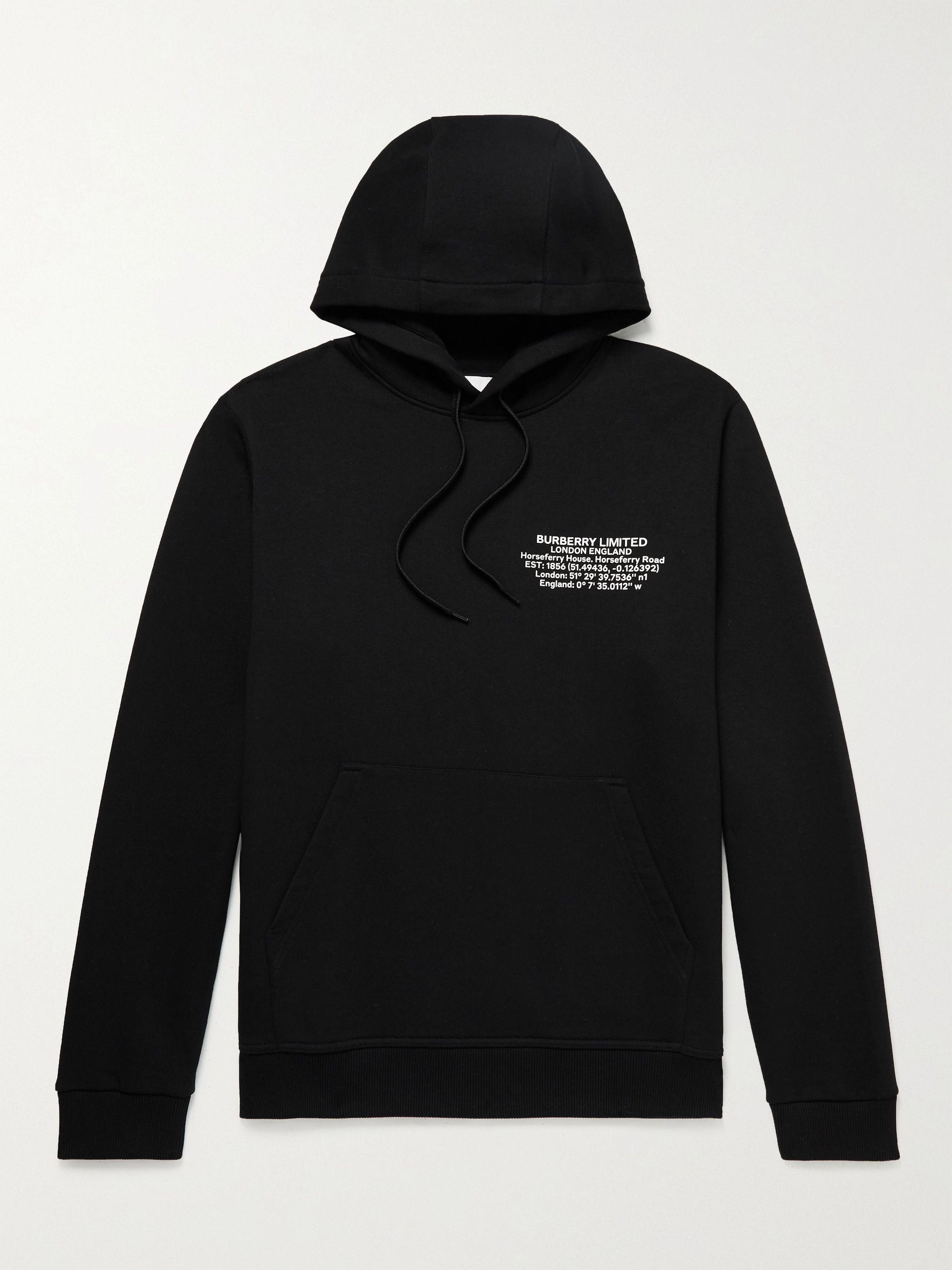 BURBERRY Oversized Logo-Print Cotton-Jersey Hoodie