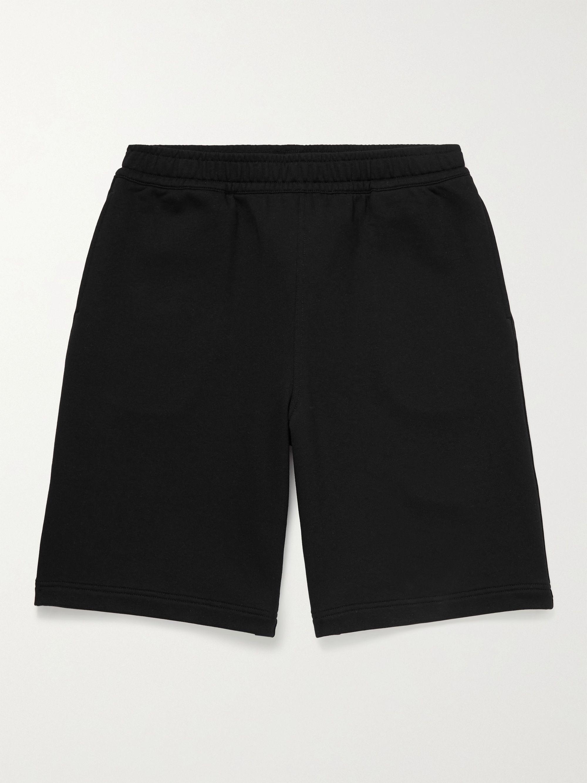 BURBERRY Wide-Leg Logo-Print Cotton-Jersey Shorts