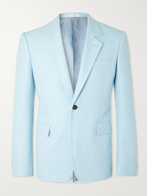 ALEXANDER MCQUEEN Slim-Fit Cotton Blazer