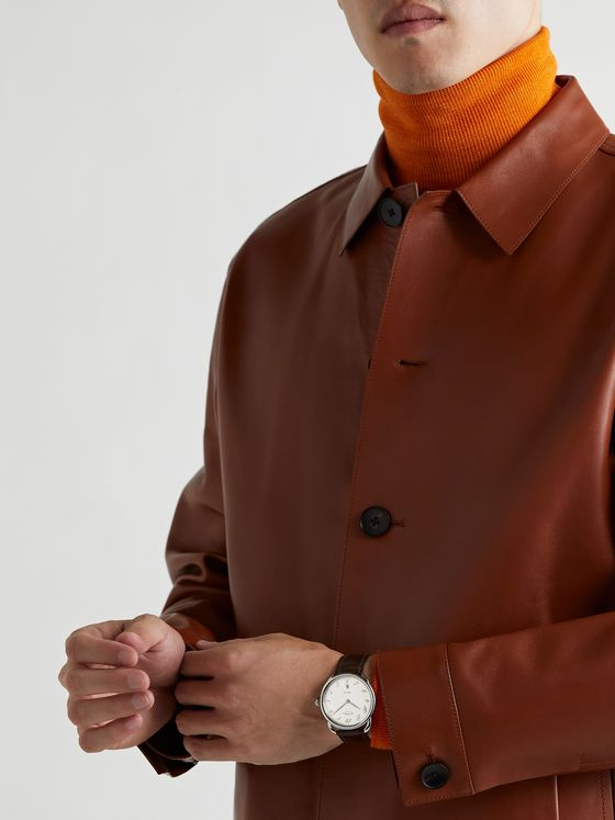 HERMÈS TIMEPIECES Arceau Automatic 40mm Steel and Alligator Watch, Ref. No. 055562WW00