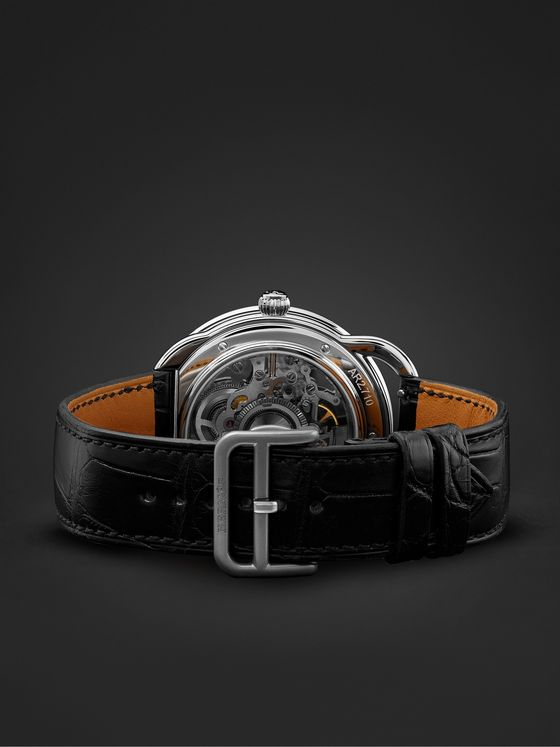 HERMÈS TIMEPIECES Arceau Squelette Automatic 40mm Stainless Steel and Alligator Watch, Ref. No. W055537WW00