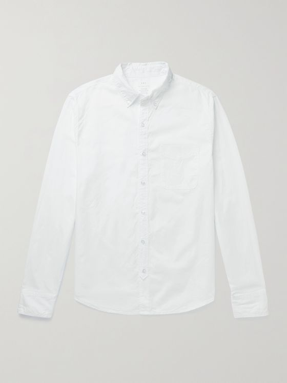 SAVE KHAKI UNITED Garment-Dyed Button-Down Collar Cotton Oxford Shirt