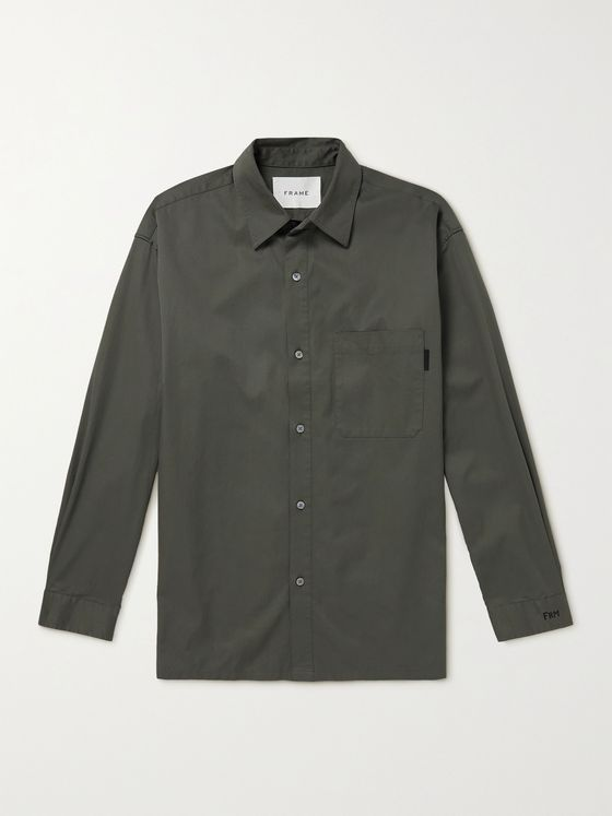 FRAME Cotton-Poplin Shirt