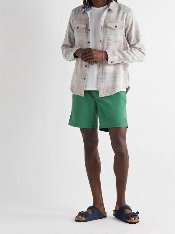 OUTERKNOWN Nomadic Volley Logo-Print Recycled Twill Drawstring Shorts