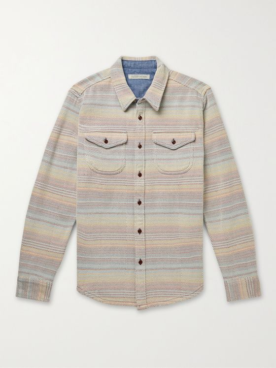 OUTERKNOWN Blanket Striped Organic Cotton-Twill Shirt