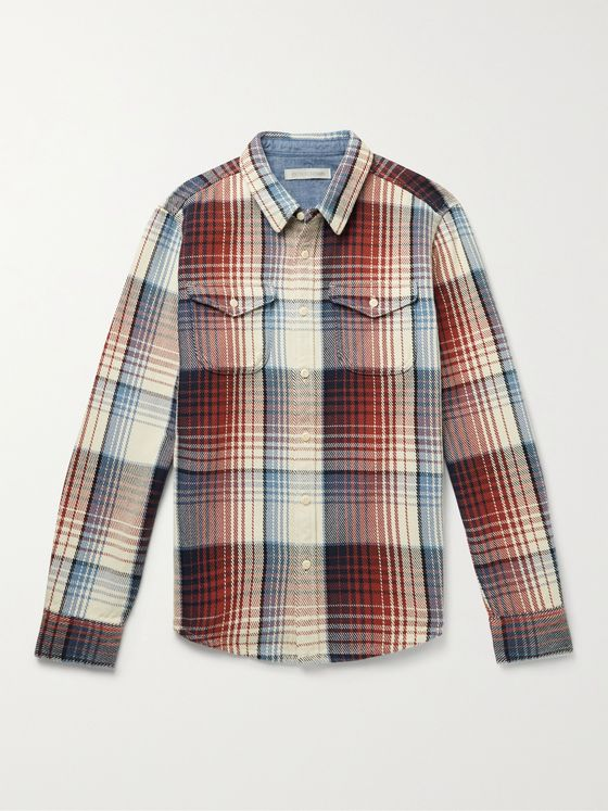 OUTERKNOWN Blanket Checked Organic Cotton-Twill Shirt
