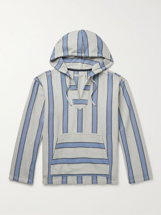 OUTERKNOWN Baja Striped Organic Cotton-Twill Hooded Sweater