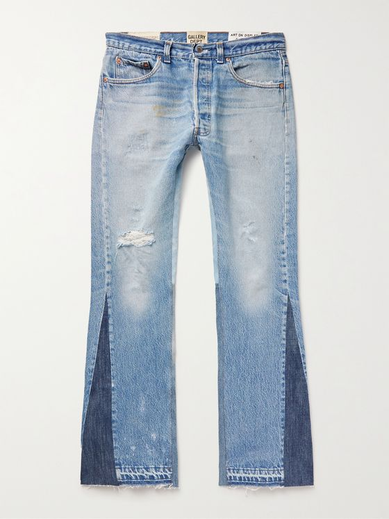 GALLERY DEPT. LA Flare Slim-Fit Distressed Denim Jeans