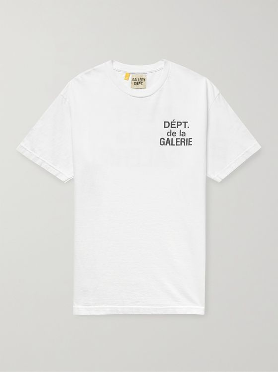 GALLERY DEPT. French Logo-Print Cotton-Jersey T-Shirt