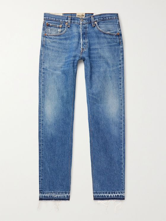 GALLERY DEPT. Slim-Fit Distressed Denim Jeans