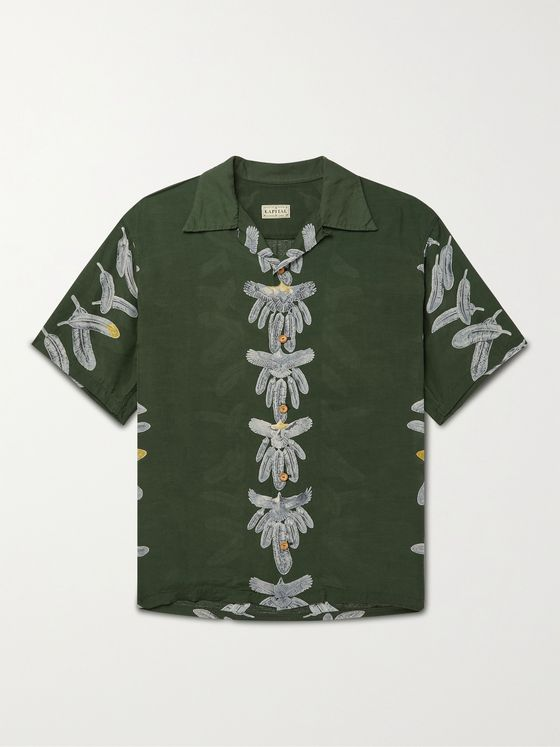 KAPITAL Camp-Collar Printed Woven Shirt