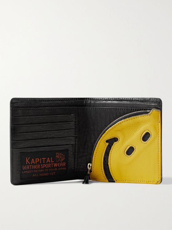 KAPITAL Smiley Leather Wallet