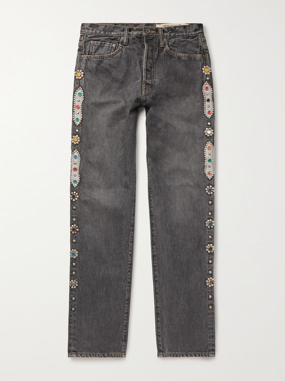 KAPITAL Embellished Denim Jeans