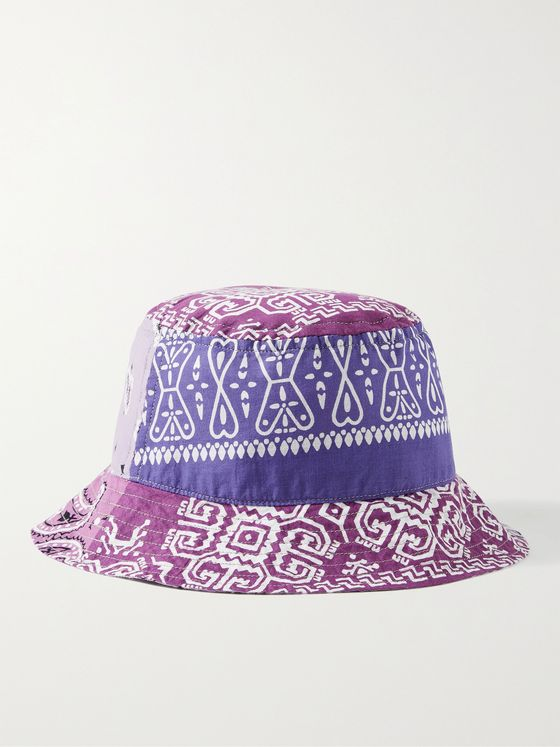 KAPITAL Patchwork Bandana-Print Cotton Bucket Hat