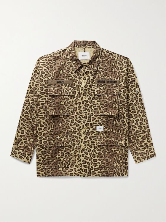 WTAPS Jungle Logo-Embroidered Printed Cotton-Twill Jacket
