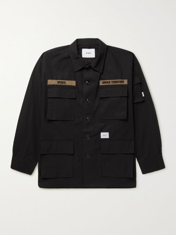 WTAPS Appliquéd Printed Cotton-Ripstop Field Jacket