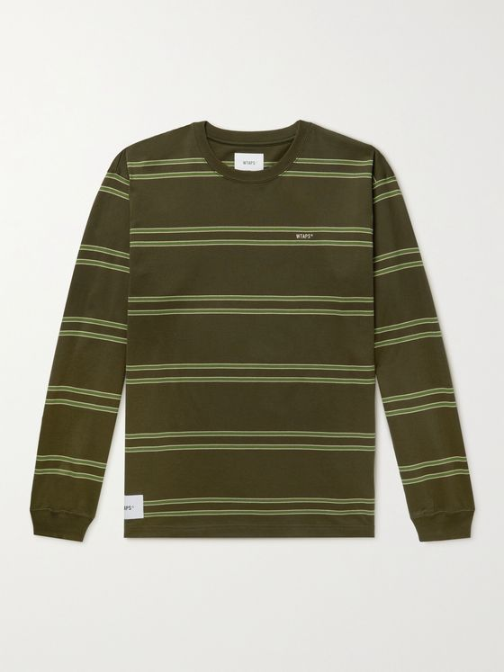 WTAPS Striped Cotton-Jersey T-shirt