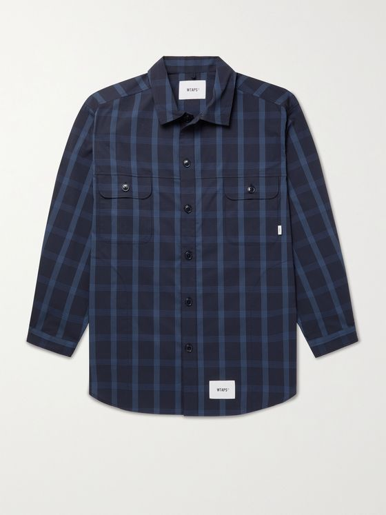 WTAPS Checked COOLMAX Cotton-Blend Ripstop Overshirt