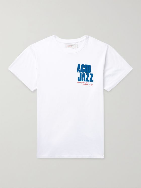 PASADENA LEISURE CLUB Acid Jazz Printed Combed Cotton-Jersey T-Shirt