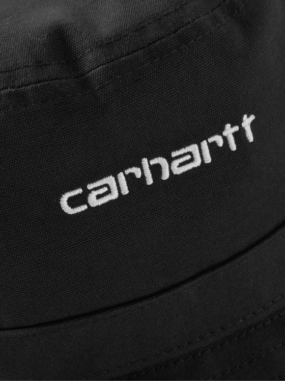 CARHARTT WIP Logo-Embroidered Cotton-Twill Bucket Hat