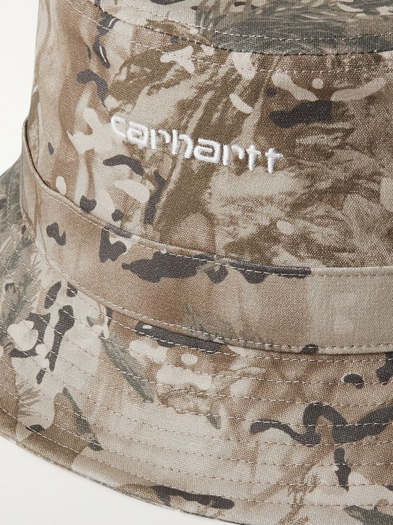 CARHARTT WIP Logo-Embroidered Camouflage-Print Cotton-Canvas Bucket Hat