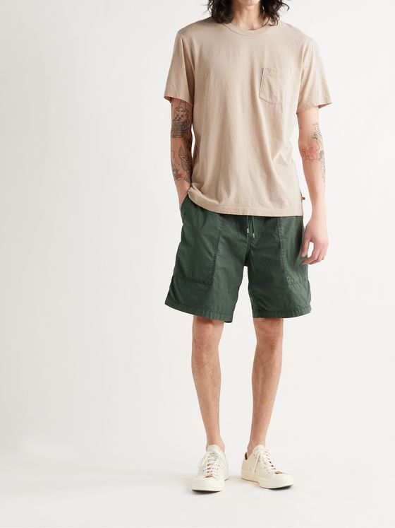 JAMES PERSE Stretch-Cotton Poplin Drawstring Shorts