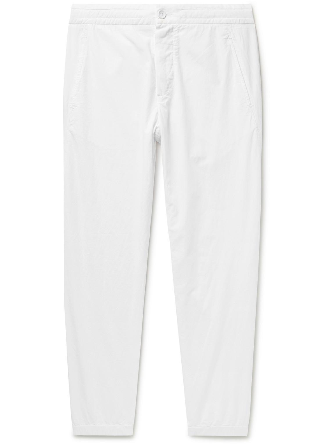 james perse - cotton-poplin trousers - men - white - uk/us 30
