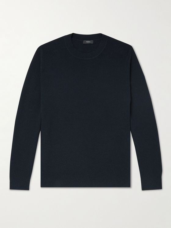 THEORY Dariel Ribbed Cotton-Blend Sweater
