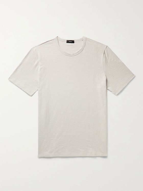 THEORY Essential Slub Cotton-Jersey T-Shirt