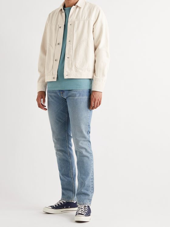 RAG & BONE Slim-Fit Cotton and Hemp-Blend Trucker Jacket