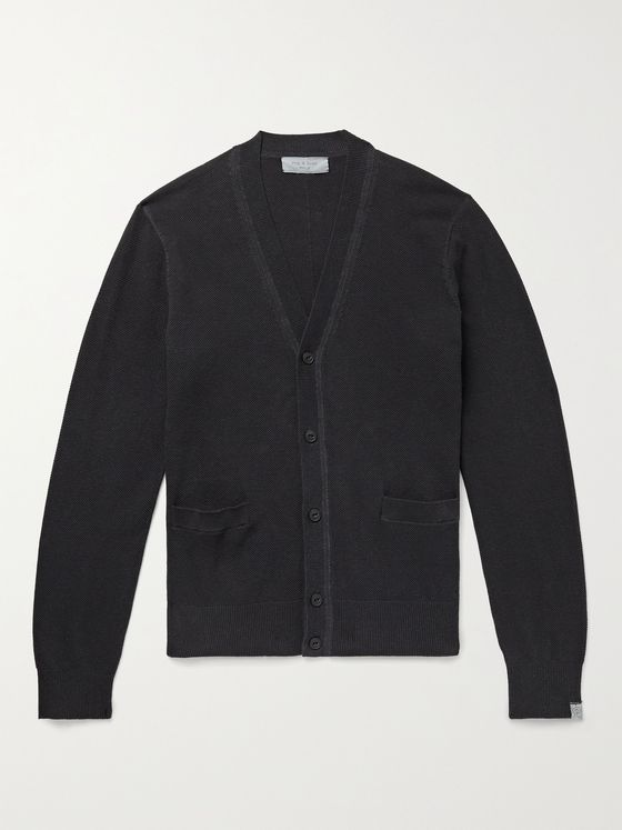 RAG & BONE Cotton and Hemp-Blend Piqué Cardigan